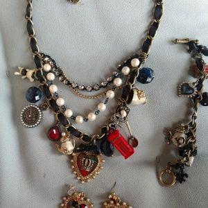 Betsey Johnson Royal Engagement necklace set